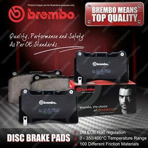 4 Rear Brembo Brake Pads for Abarth 500 595 695 312 500C 595C 695C 312 Electric