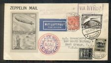 Germany/Brazil/U.S. Combo Franking, 1930 So. America Zepp Flight w/#C39 Roessler