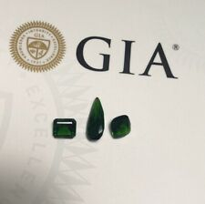 GIA Certified Natural Chrome Diopside 6.74 Ct 3pcs