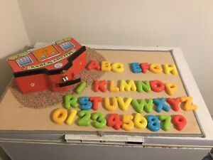 Parents Magazine Magnet School Tin Letters and Numbers Magnets
