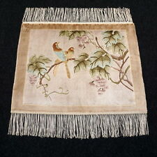 Orient Teppich China 60 x 50 cm Seidenteppich Seide Vogel Silk Carpet Rug Tapijt