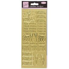 Anita's Gold Peel Offs Outline Wedding Anniversary Stickers 25 / Ruby etc | C7