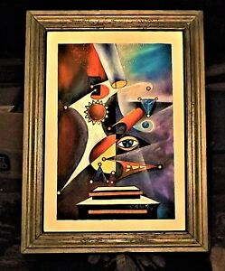 Original PAINTING / Primitive-Framed / Surrealism / Acrylic / Signed