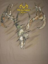 REALTREE XTRA Hunter CAMO Buck DEER Skull antlers hunt MEN'S New T-Shirt S-3XL