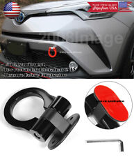 Black Plastic Tape on Adjustable Decoration Tow Hook Ring For Ford Chevy Dodge