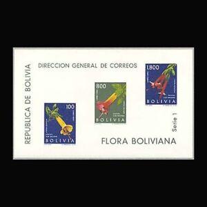Bolivia, Sc #C239a, MNH, 1962, S/S, Flowers, Flora, A350FSDD-C