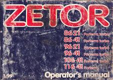 Zetor Paper Agricultural Vehicle Manuals & Literature
