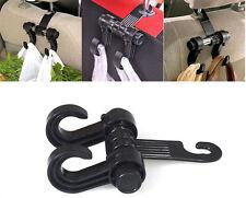 1x Black Portable Car Truck Seat Headrest Holder Hooks For Bag Clothes For Honda
