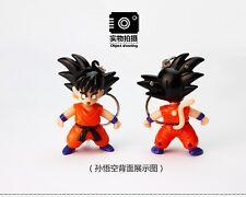 New 1Pcs Anime Dragon Ball Z Goku Kid cosplay characters keychain+sound light Fs