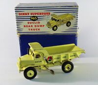 Vintage Dinky Supertoys 965 - Euclid Rear Dump Truck - Yellow Boxed