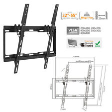 "Lcd Led Plasma Tilt Tv Wall Mount 14 Screen Bracket, 32"" to 55"" Vesa 400x400mm"
