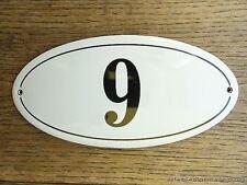 Stile ANTICO SMALTO porta numero 9 numero Civico Porta Placca Segno