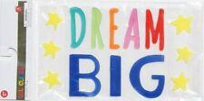 NEW Gel Window Cling Decoration DREAM BIG stars 14 pc Inspirational Motivational