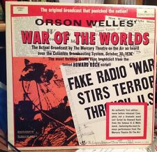 Orson Welles WAR OF THE WORLDS Longines Symphonette Society Record LP Stereo4001