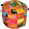 New multicolored Hand made Ottoman Pouf Cover Indian jaipuri hand made 22*22*14