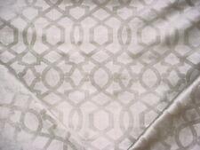 1-3/4Y P Kaufmann Sultana Smoke Gray Arabesque Lattice Velvet Upholstery Fabric