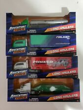Adventure Force Long Haulers 1/64 Scale Diecast Trucks, Lot of 4 New