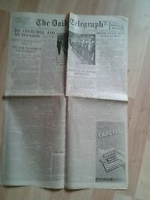 VINTAGE DAILY TELEGRAPH. Jul 15th 1940- Mr Churchill and an Invasion.