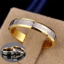 Titanium Promise Forever Couple Steel Love Women Wedding Ring Band Men Rings