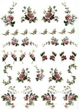 A/4 Rice Paper for Decoupage, Scrapbooking Sheet - Pretty Flowers