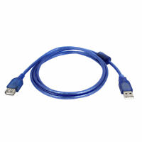 Blue USB 2.0 Type A Female to Male Cable Converter   1.5m 5ft Long