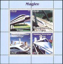 Congo 2003 Maglev/Trains/Rail/Railways/Locomotives/Transport 4v m/s (n11529)