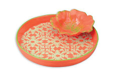 Round Tray With Pansy Bowl Poppy Chip and Dip