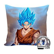 Super Saiyan Blue Goku Throw Pillow - Dragon Ball Z Couch Pillow 40x40 DBZ