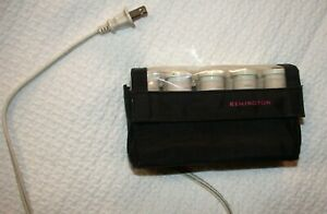 REMINGTON Travel Hot Rollers 10 Curlers Electric Pageant Black Case