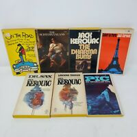 Jack Kerouac Vintage Paperback Lot of 7 - On the Road, Sax, Pic, Bums, Traveler