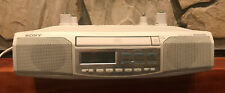 Sony ICF-CD513 Under Cabinet Counter Clock Radio AM FM CD Player With Hardware.