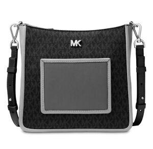 Michael Kors Shoulder Bag Gloria Pocket Swing Pack Black Multi New