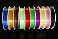 10 Colors 0.8mm Rib Round Larvae Nymph Ribbing Clear Stretch Fly Tying Materials