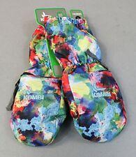 Kombi Girl's Gondola Mittens W/ Zip Heat Pack Pocket JM4 Water Color Large NWT