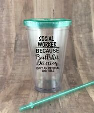 Social Worker Because Bullshit Detector Isn't Title Tumbler, Social Work, Gift