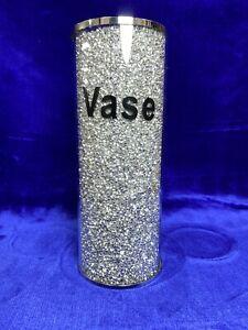 crushed crystal vase