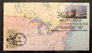 2020 Mayflower In Plymouth Harbor FDC Hand Crafted Cachet Religious Freedom 3c