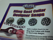 Weaver Leather Bling Goat Colllar Snaps Silver / Crystals