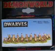 Demonworld Dwarven Dwarf Miners (40) MINT 15mm Lead Miniatures