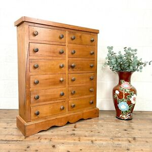 Reclaimed Mahogany Bank of Drawers (M-3074) - FREE DELIVERY*