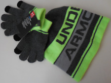 Under Armour Boy's Beanie & Glove Combo Set 2.0 Color Anthracite Size Osfa New