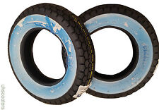 "SAVA MITAS 3 50 8 VESPA J SPEED RATED 100KM TYRE WHITEWALL X 2 VBB 8"" INCH"