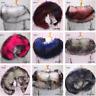 Women Warm Faux Fur Down Coat Collar Scarf Neck Warmer Stole Shawl Wrap
