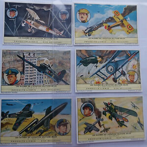 Liebig Cards Full Set of 6 Belgian Air Force Battles S1777 F1722 French  1962