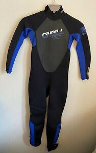 O'Neill Women's Retractor 3.2 Full Wetsuit Back Zip Long Sleeves Legs Size 12