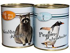 Feinkost Pinguin Waschbär lustige Geschenkidee Scherzartikel 30. 40. Geburtstag