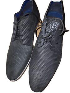 Herren business Schuhe Bugatti Reptilien Look 44 Neu