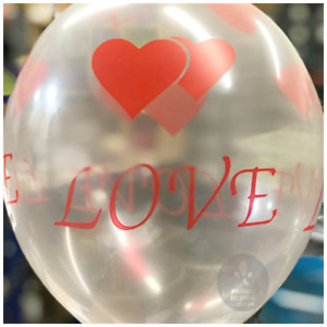 "12"" Love Transparent Clear Helium/Air Balloons Wedding Engagement Party baloons"