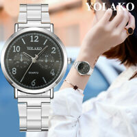 Women's Casual Quartz Stainless Steel Band Watch Fashion Analog Wrist Watch HOT