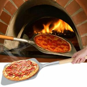 Pizza Shovel Aluminum Wooden Handle Cake Peeling Baking Tools Knife Accessories